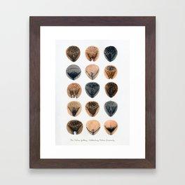 Vulva Variety - Brown I Framed Art Print