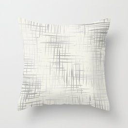Crosshatch Silver Throw Pillow