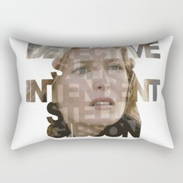 Detective Superintendent Stella Gibson Rectangular Pillow