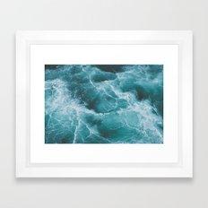 Electric Ocean Framed Art Print