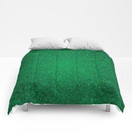 Jade Green Sparkling Jewels Pattern Comforters