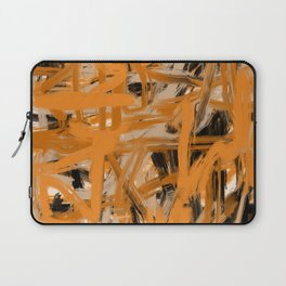 Orange & Taupe Abstract Laptop Sleeve