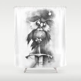 The Golly Fluff Shower Curtain