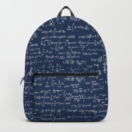 Math Equations // Navy Backpack