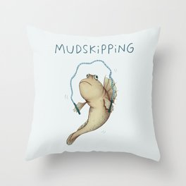Mudskipping Throw Pillow