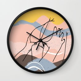 The Waves Of Sex, Erotic Lovers Art, Minimalist Sex Illustration, Modern Sex Pose Line Drawing Wall Clock