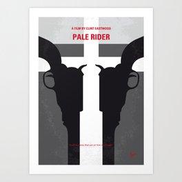 No640 My Pale Rider minimal movie poster Art Print