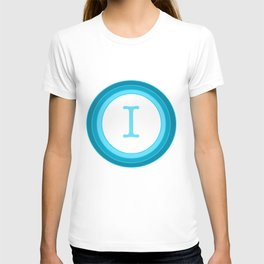 Blue letter I T-shirt