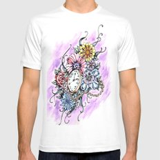 About Time Mens Fitted Tee White MEDIUM