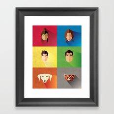 Legend of Korra Flat Poster (Team Korra!) Framed Art Print