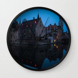 Bruges 2 Wall Clock
