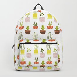 House plants in colorful pots Backpack