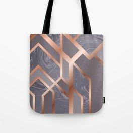 Grey Art Deco Tote Bag