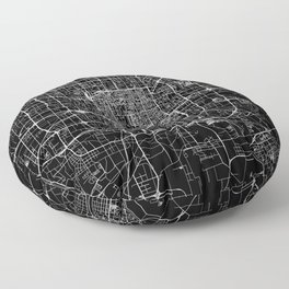 Beijing Black Map Floor Pillow