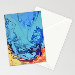 Celebration 2 Colorful Fluid Abstract Art Stationery Cards