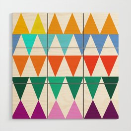 Triangles of Color Wood Wall Art