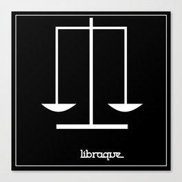 Libra ~ Libraque ~ Zodiac series Canvas Print