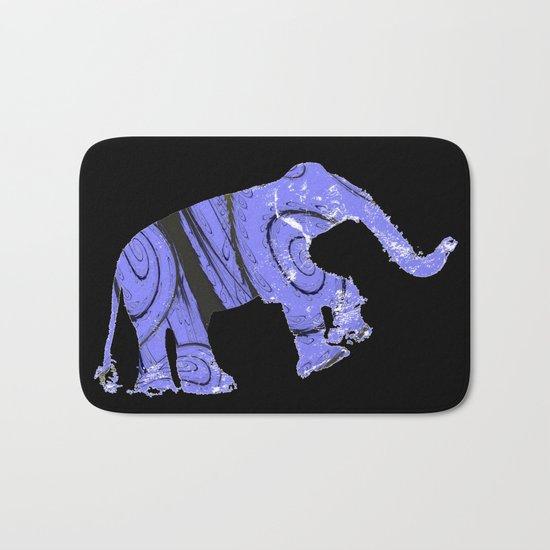 Elephant and fractal Bath Mat