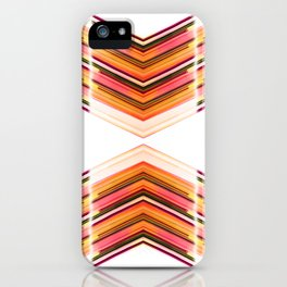 Innerspace - Red Orange Futuristic Geometric Abstract iPhone Case