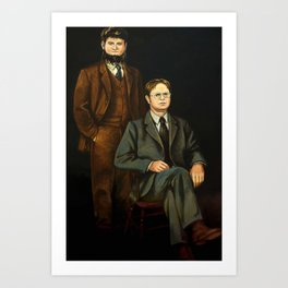 Dwight And Mose Painting Photographic Print Art Print
