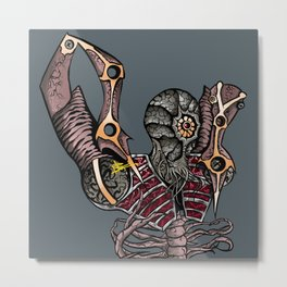Steampunk Monster Metal Print