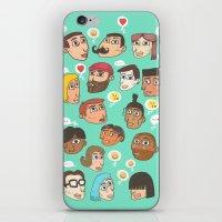 emoji iPhone & iPod Skins featuring emoji talk by Hugo Lucas