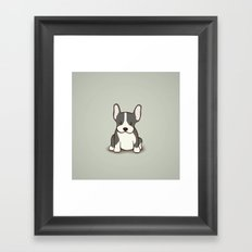 French Bulldog Dog Illustration Framed Art Print
