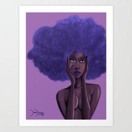Afro Blu Art Print