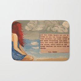 The Waves Told Her Story Bath Mat