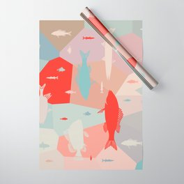 California Pastel Fish Wrapping Paper