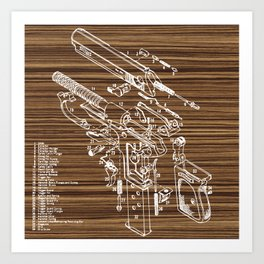 Walther PPK Art Print