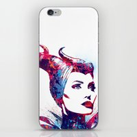 maleficent iPhone & iPod Skins featuring Maleficent by lauramaahs
