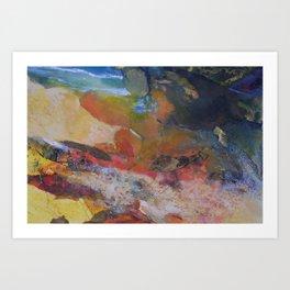 Hot Sands/Cool Waters Art Print