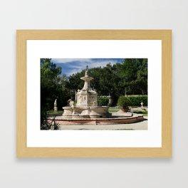 Garden Fountain Villa Vizcaya Framed Art Print