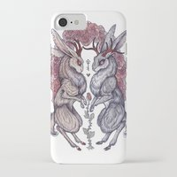 hearts iPhone & iPod Cases featuring Rare Hearts by Caitlin Hackett
