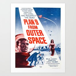 Vintage poster - Plan 9 from Outer Space Art Print