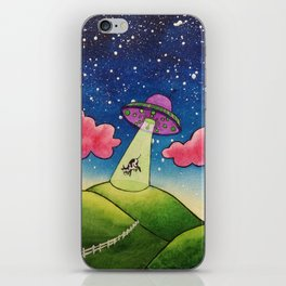 Cow Abduction iPhone Skin