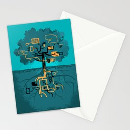 Digital Tree Stationery Cards