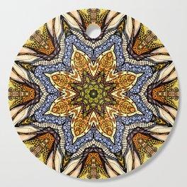 Magic flowers mandala Cutting Board