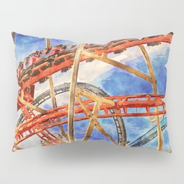 Fun on the roller coaster, close up Pillow Sham