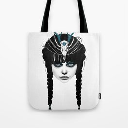 Wakeful Warrior - In Blue Tote Bag