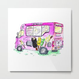 An Ice-cream Car Metal Print