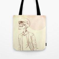 gentleman Tote Bags featuring Gentleman by Mike Koubou