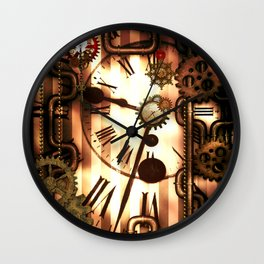 Steampunk, clocks and gears, vintage design Wall Clock