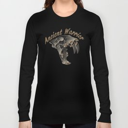 Ancient Warrior (Sabertooth Skull) Long Sleeve T-shirt