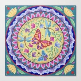Spring Melody Mandala Canvas Print