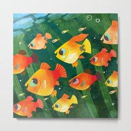A School of Platy Fish Metal Print