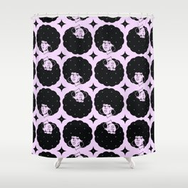 AfroPattern Lilac Shower Curtain