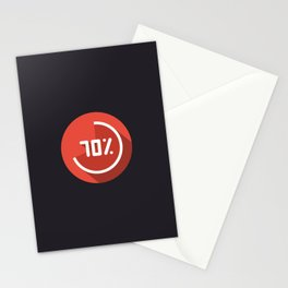 "Illustration ""percentage - 70%"" with long shadow in new modern flat design Stationery Cards"