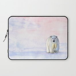 Polar bear in the icy dawn Laptop Sleeve